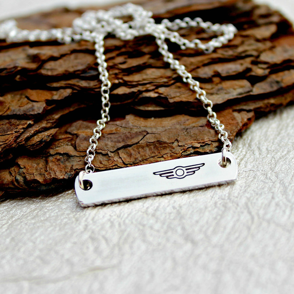 Airplane Pilot Necklace