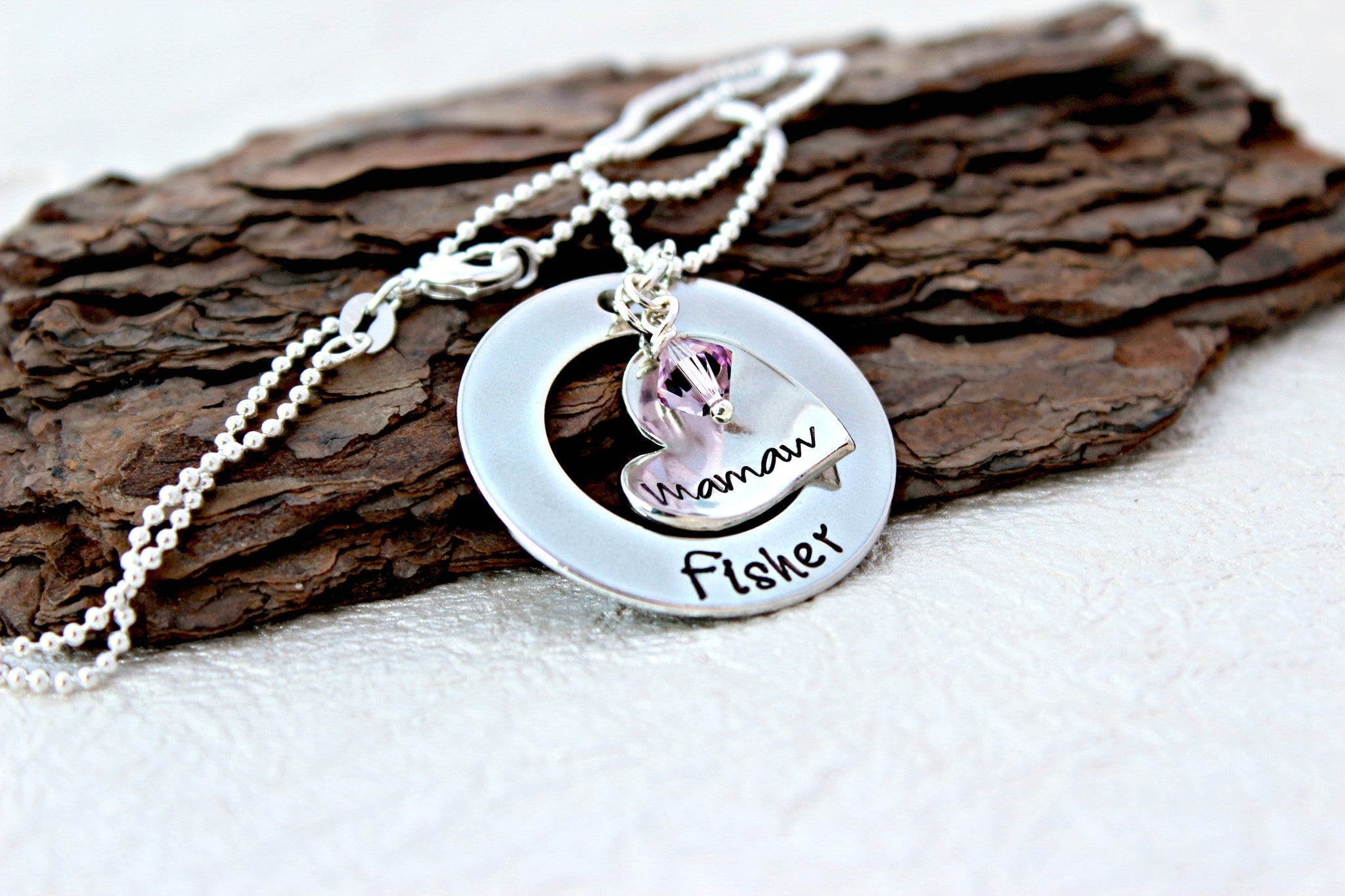 gift nana pin for stamped necklace jewelry hand