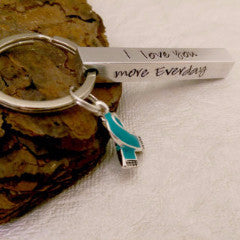 PTSD Awareness Bar Keychain