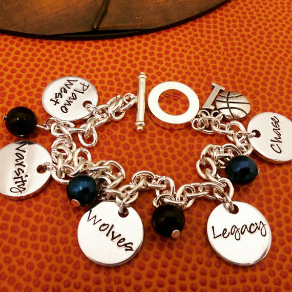 Custom Basketball Charm Bracelet