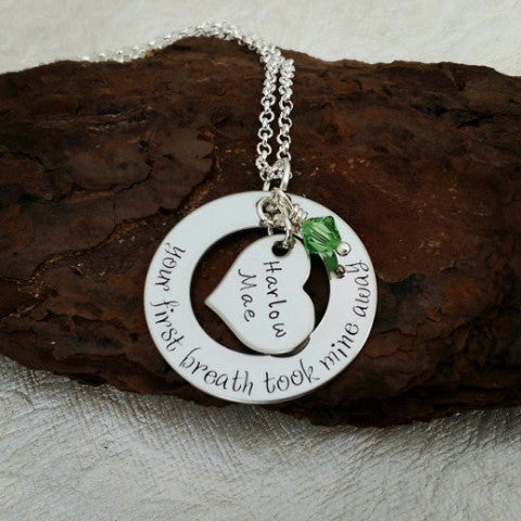 Mom Necklace - Your First Breath Took Mine Away