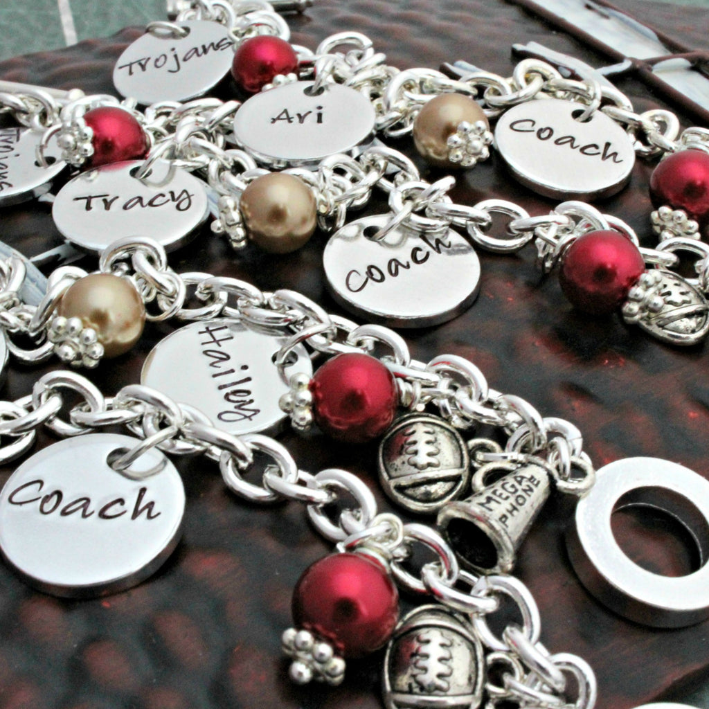 Custom Cheerleader Charm Bracelet