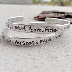 Military Wife Prayer Bracelet