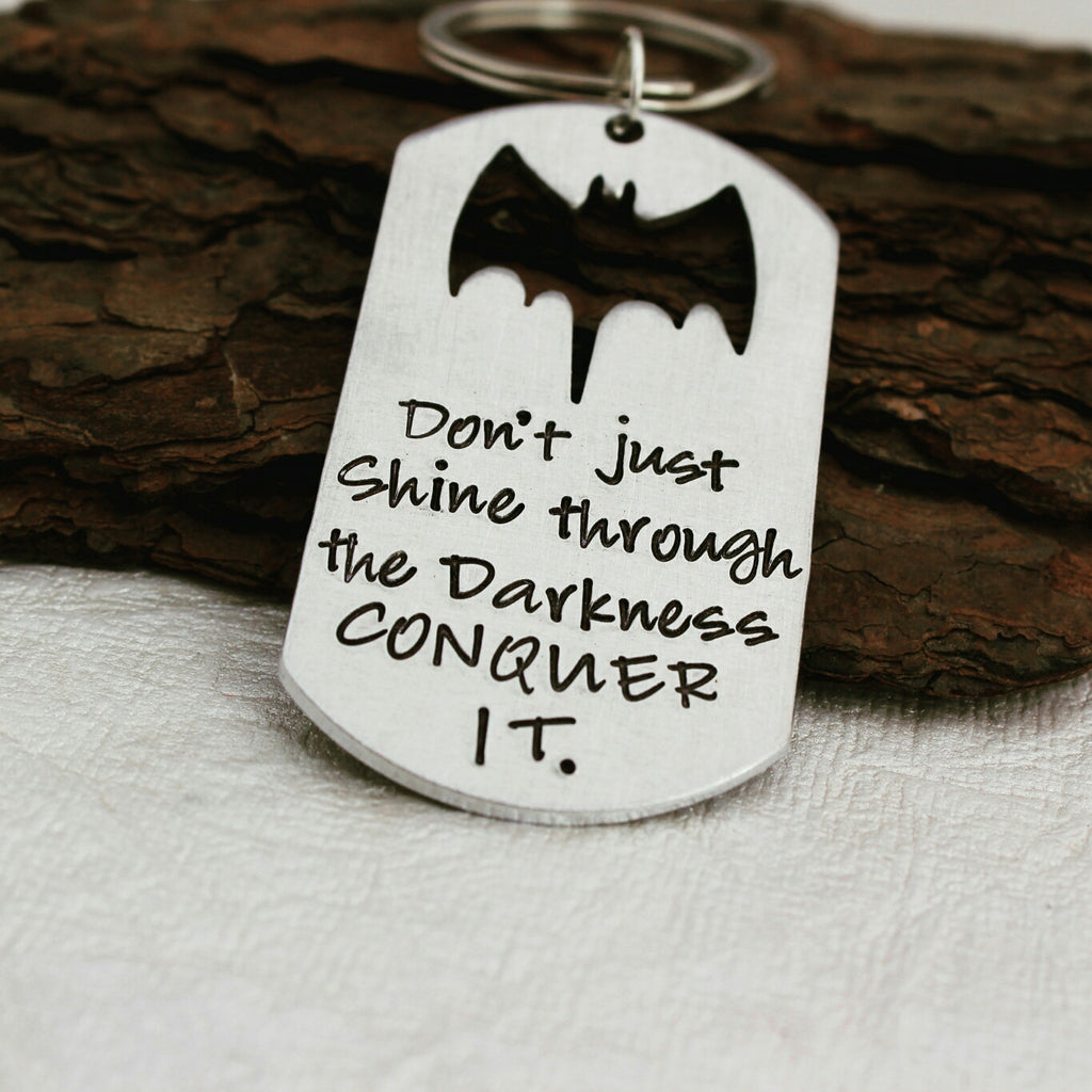 Conquer It Superhero Keychain
