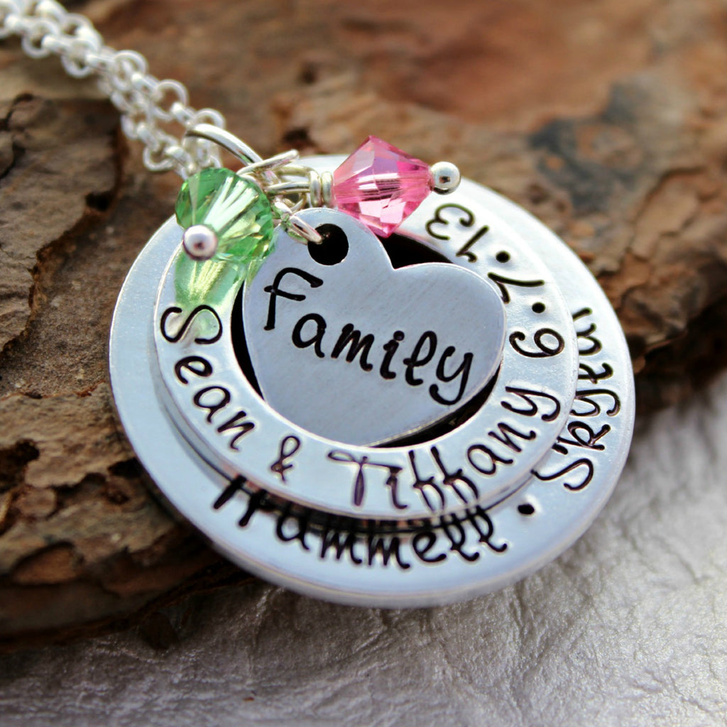 Family 3 Layer Necklace