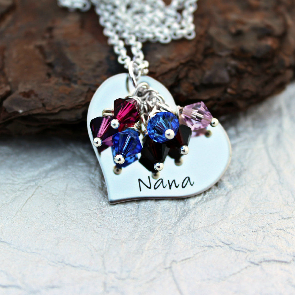 Personalized Grandma Heart Necklace
