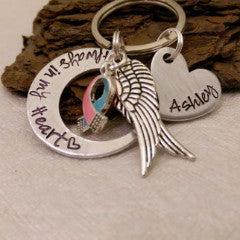 Always in my Heart Memorial Keychain