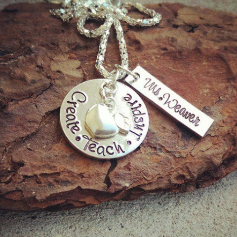Custom Teacher Necklace