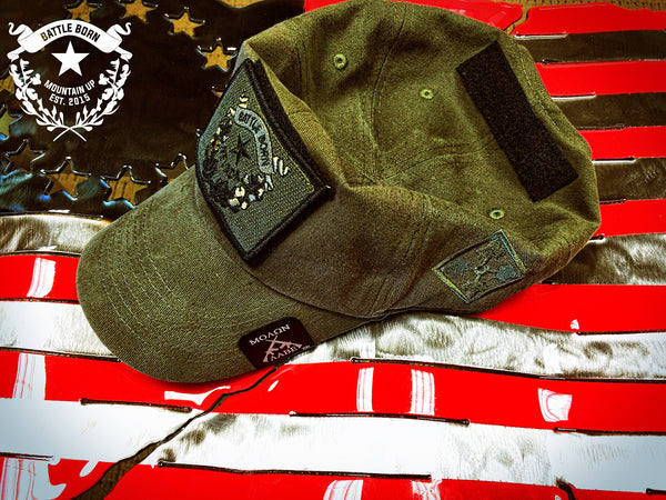 Brushed Cotton Olive Drab 4th Infantry Operator Hat - Mountain UP