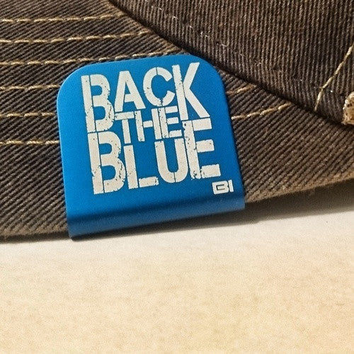 Back The Blue Brim Clip