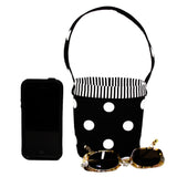 Car Cellphone Caddy ~ Black Polka Dots