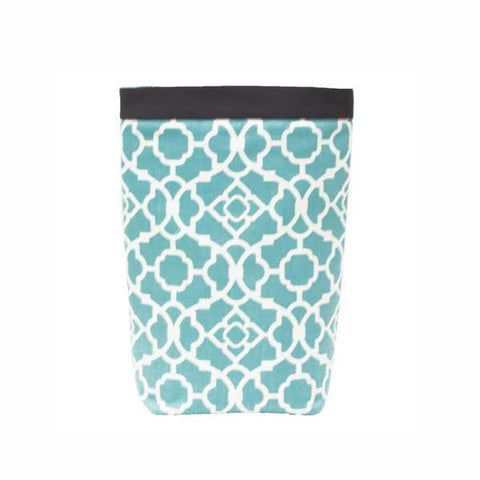 Car Trash Bag ~ Aqua Lattice