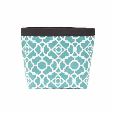 Car Headrest Caddy Aqua Lattice