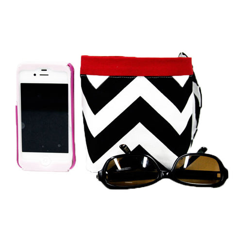 Car Cellphone Caddy ~ Black Chevron