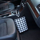 Car Trash Bag ~ Black and White Plaid