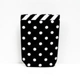 Car Trash Bag ~ Black Polka Dots