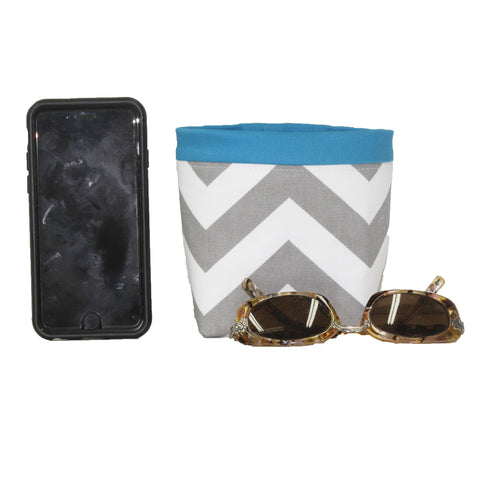 Car Cellphone Caddy ~ Gray Chevron