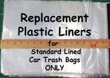 Replacement Plastic Bag Liners - count of 10