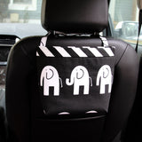 Car Headrest Caddy ~ Black Elephant
