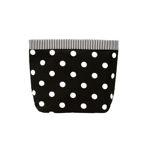 Car Headrest Caddy ~ Black Polka Dots