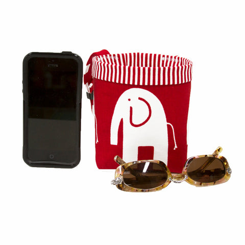 Car Cellphone Caddy ~ Red Elephant