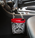 Car Cellphone Caddy ~ Black Damask