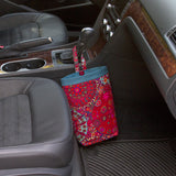 Car Trash Bag ~ MILLEFIORE RED