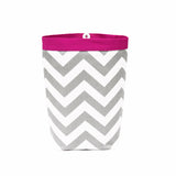 Car Trash Bag ~ Gray Chevron