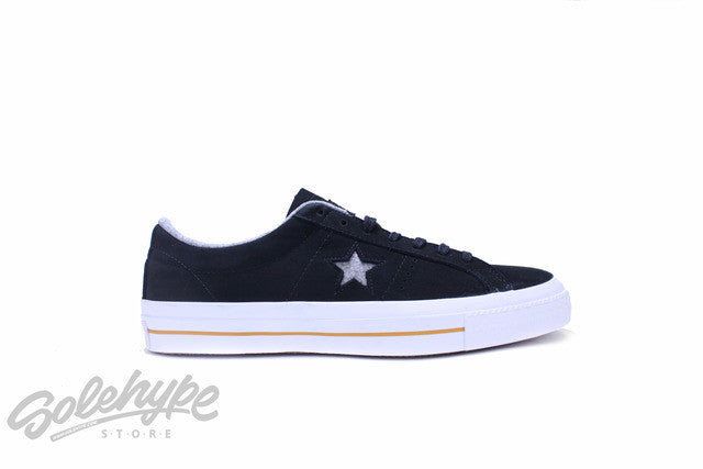 CONVERSE ONE STAR NUBUCK LEATHER OX BLACK ASH GREY WHITE 153717C