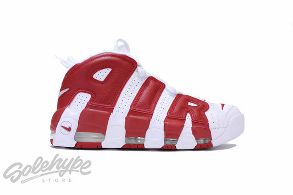 NIKE AIR MORE UPTEMPO PIPPEN WHITE GYM RED 414962 100