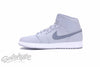 NIKE AIR JORDAN 1 MID WOLF GREY COOL GREY WHITE 554724 033
