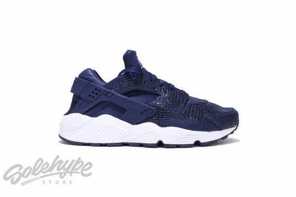 NIKE WOMENS AIR HUARACHE PRINT OBSIDIAN BLUE BLACK SAIL WMNS 725076 401