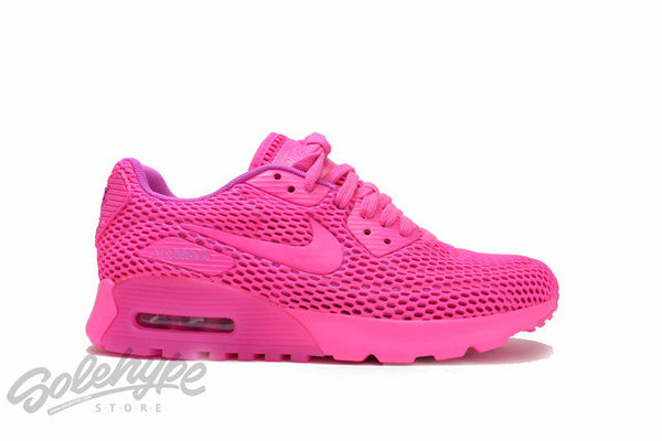 NIKE WOMENS AIR MAX 90 ULTRA BREATHE FIRE PINK BLAST WMNS 725061 600