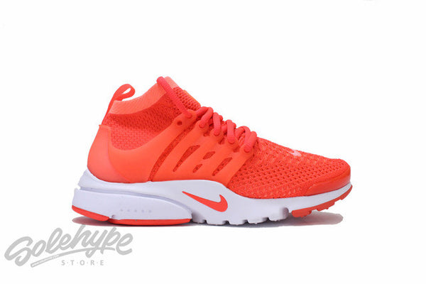 NIKE WOMENS AIR PRESTO FLYKNIT ULTRA MANGO CRIMSON WHITE 835738 800