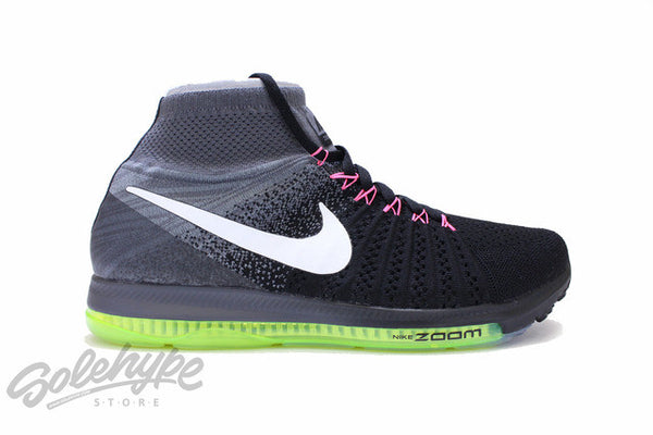 NIKE AIR ZOOM ALL OUT FLYKNIT BLACK COOL GREY VOLT WHITE 844134 002