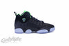 AIR JORDAN JUMPMAN TEAM II 2 GS BG BLACK ELECTRIC GREEN 861435 012