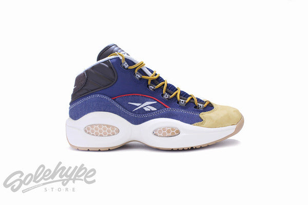 REEBOK QUESTION MID IVERSON DRESS CODE NAVY BLUE WHEAT AR0252