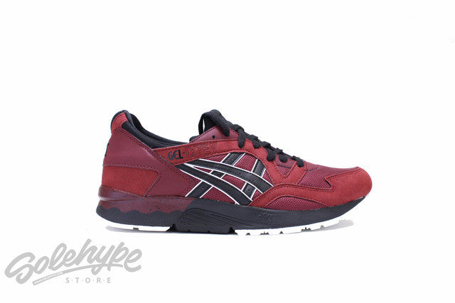 ASICS GEL LYTE V 5 POMEGRANATE RED BLACK HN6A4 2890