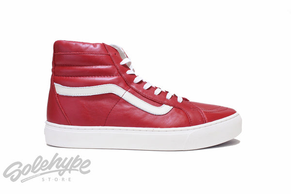 VANS SK8 HI CUP CA LEATHER RED CHILLI PEPPER VN 0177GS5