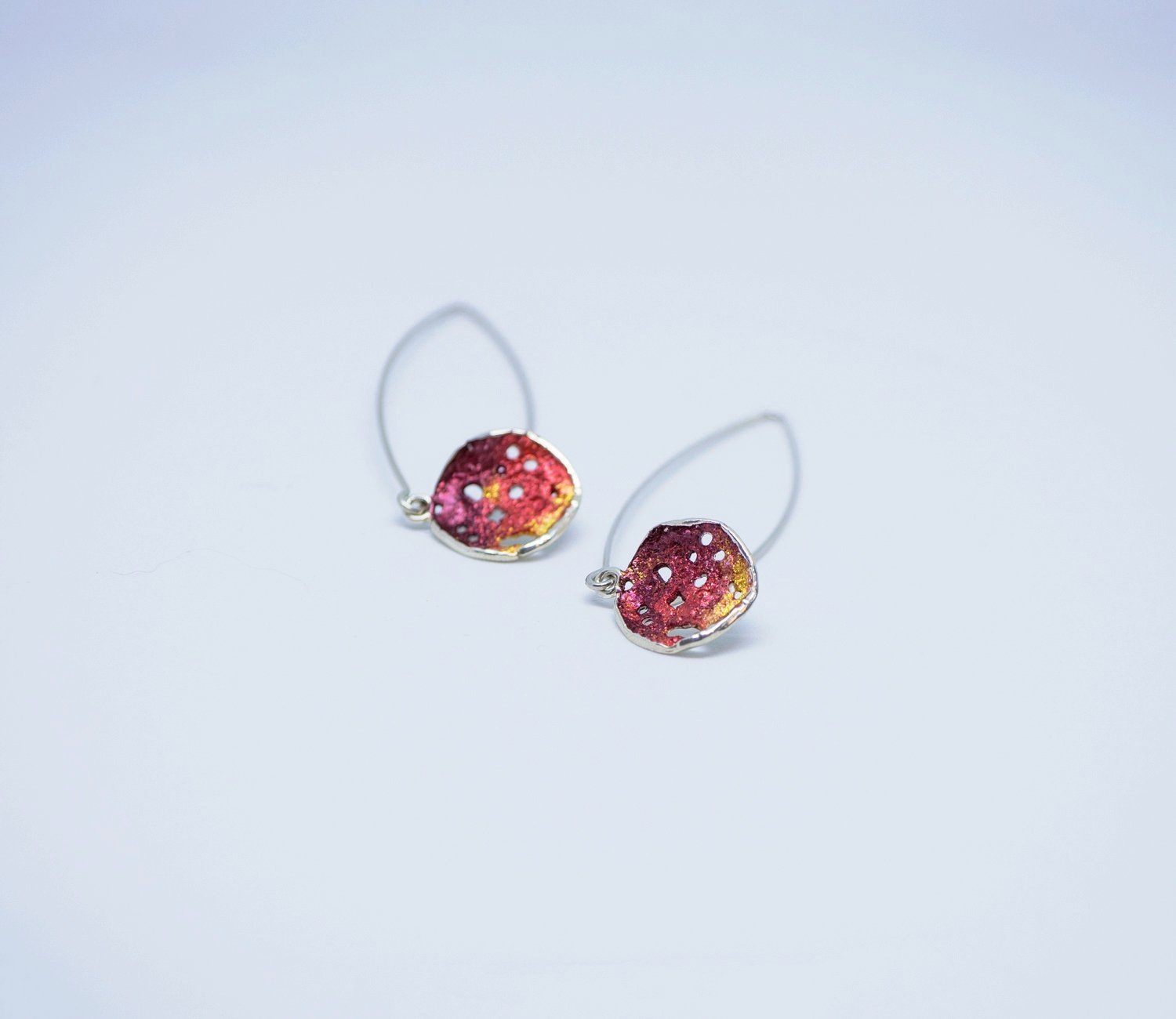 Red drop earrings 2