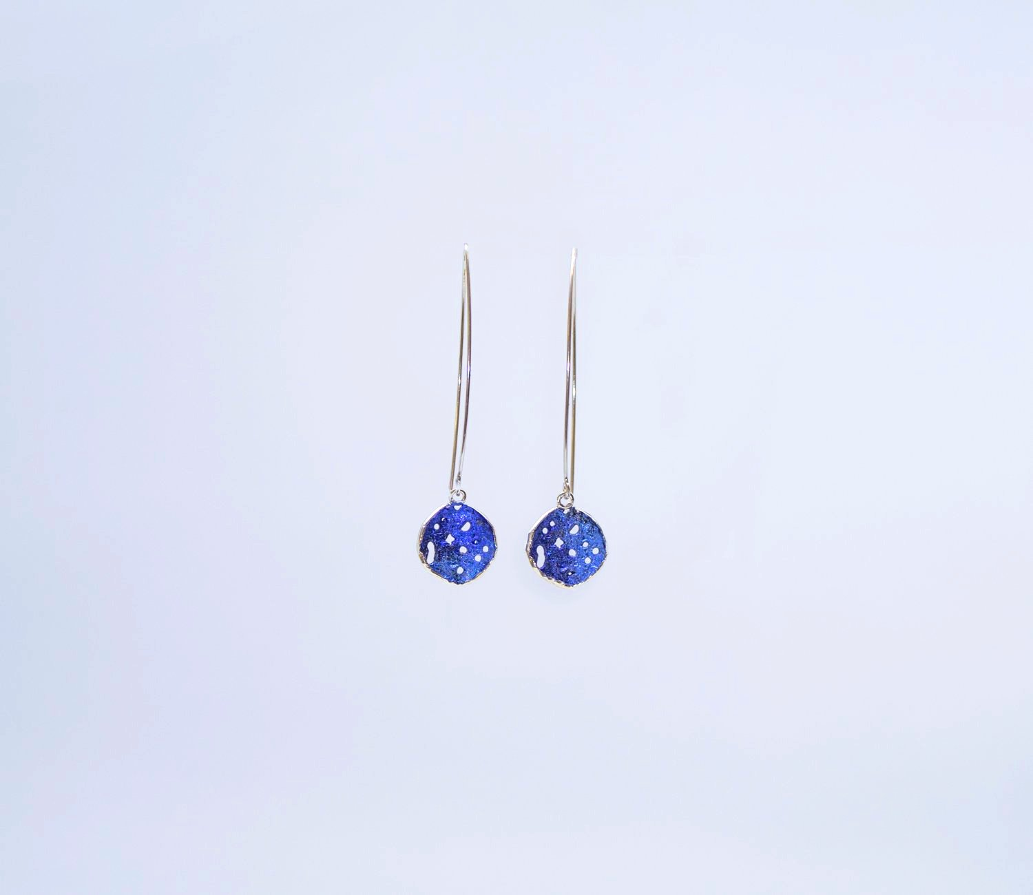 Blue drop earrings 2