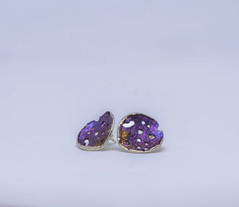 Purple post earrings 3