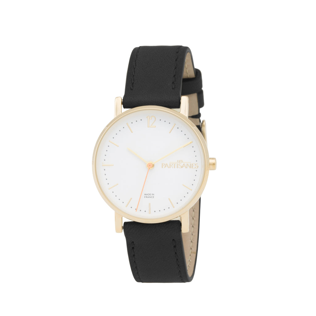 L'AUDACIEUSE: ROSE GOLD WITH BLACK STRAP