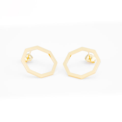 Minuit (Midnight) Earrings (Gold)
