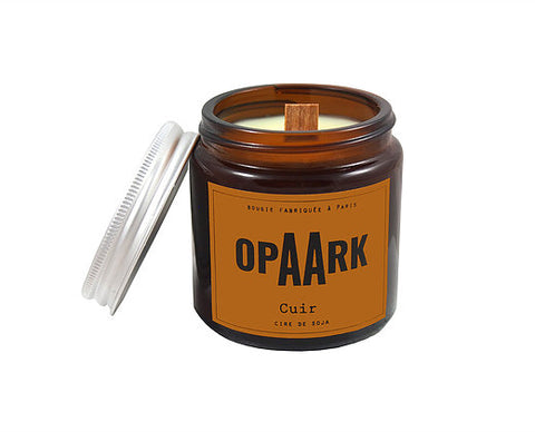 OPAARK Scented Candle: Leather