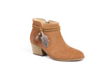 Boot Cognac with Feather Schmoove Heroine L'Ingenue