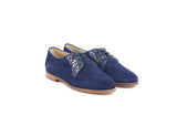 Suede and glittered brogues