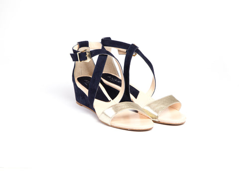 Navy and Gold Sandals—Only one size left!