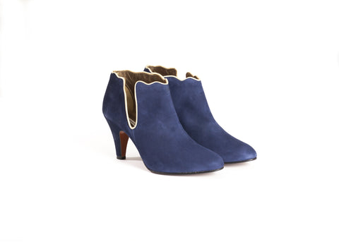 Blue Suede Ankle Boots—Only one pair left!