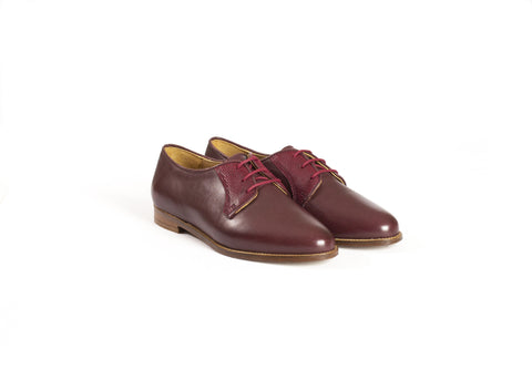 Burgundy Leather Brogues—Only one pair left!